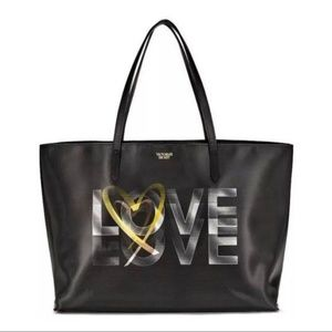 Victoria Secret 3D Love Black tote